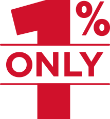 Only 1%